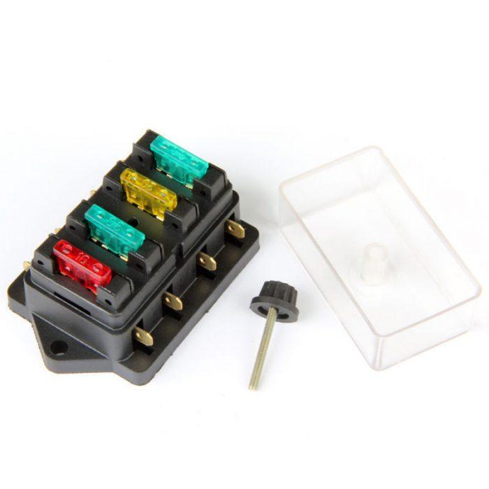 12V//24V KFZ Auto Boot Sicherungshalter Sicherungsdose Sicherungskasten 6-fach